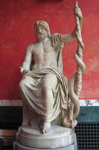 Tanrı Apollon'un şifacı oğlu Tanrı Asklepiosa.