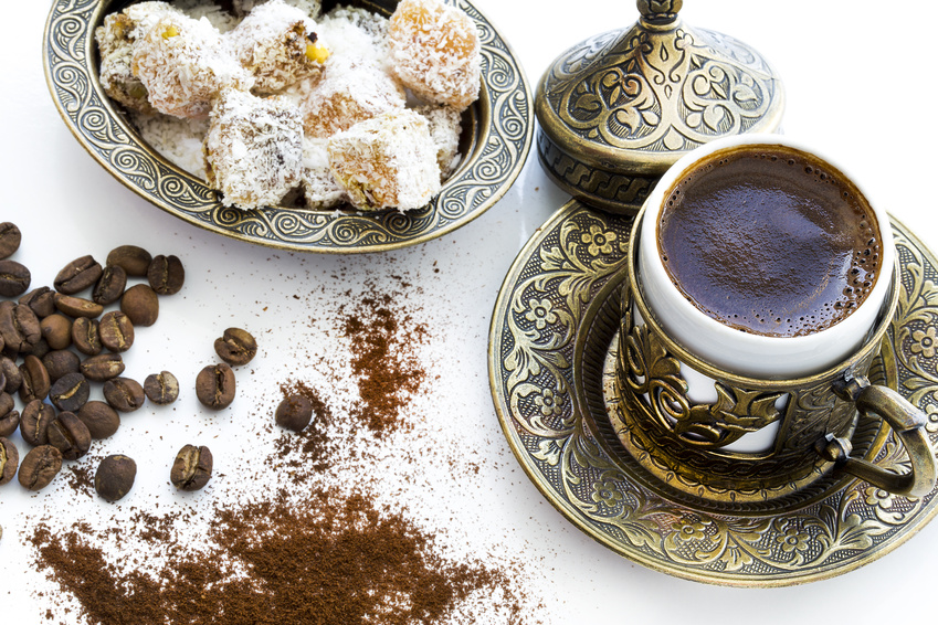 Service of Turkish Coffee