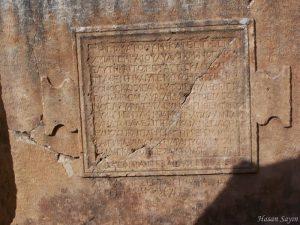 Arykanda - yazıt