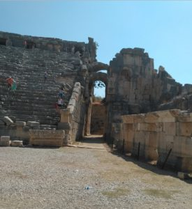 Myra Antik Kenti Tiyatro Girişi.