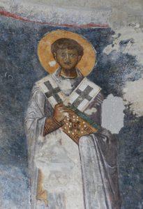 Aziz Nikholas'ın Myra Antik Kenti'ndeki kilisedeki duvar resmi.