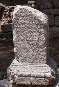 Phaselis Antik Kenti'nin en önemli yazıtı.