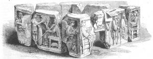Xanthos Antik Kenti Harp Anıtı çizimi.
