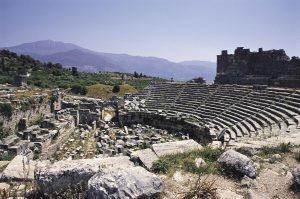 Xanthos Antik Kenti tiyatrosu.