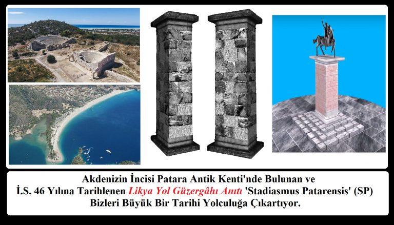Patara'da Bulunan İ.S. 46 Yılına Tarihlenen Likya Yol Güzergâhı Anıtı Stadiasmus Patarensis  Tarih İçin Büyük Bir Yolculuk