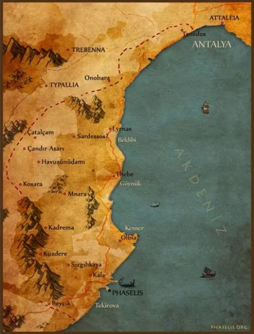Typallia Antik Kenti Likya/Psidia Uygarlığı