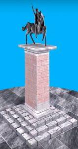 Anıtın tahmini tasviri