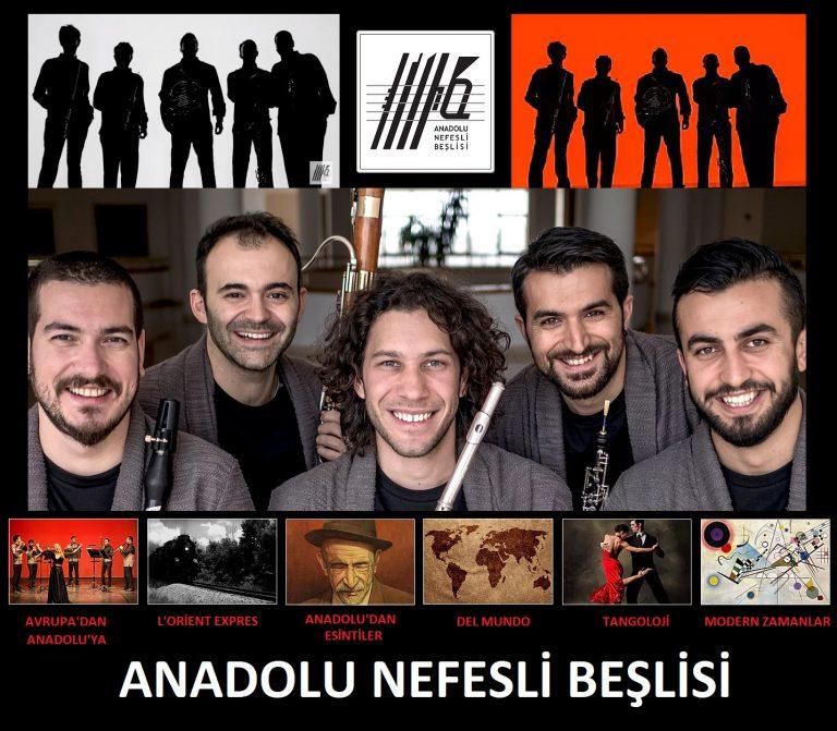 """Anadolu Nefesli Beşlisi Son Zamanların Sahneye Taşınmış En Seçkin Projesi Olan """"Tangoloji"""" İle Antalyalıları Mest Etti"""