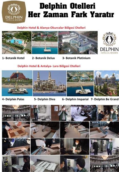 Delphin Hotelleri Her Gün 700 Maske Üreterek Yine Fark Yarattı