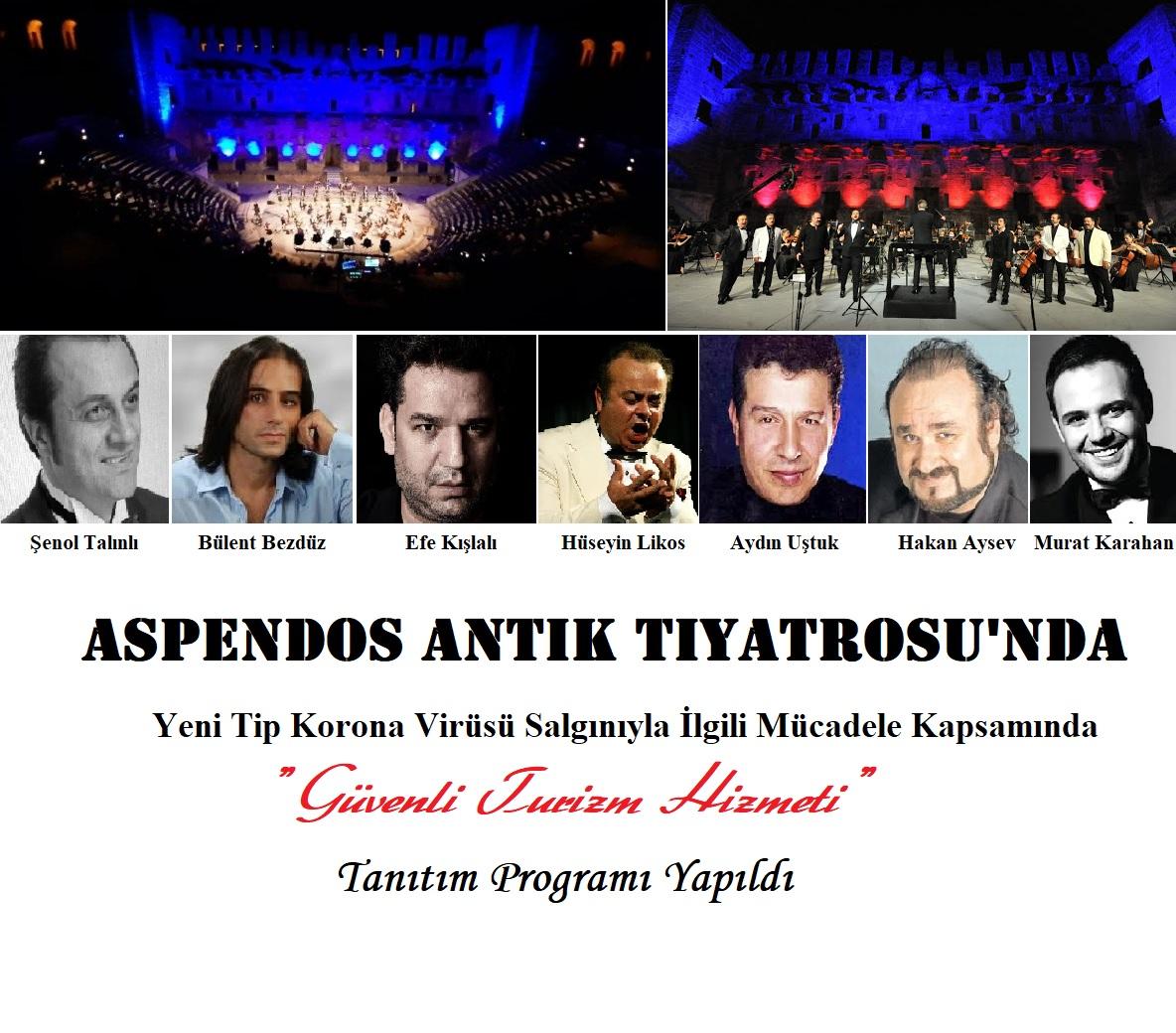 Aspendos Antik Tiyatrosu'nda 51 Ülkenin Büyükelçisine 7 Tenor Konser Verdi