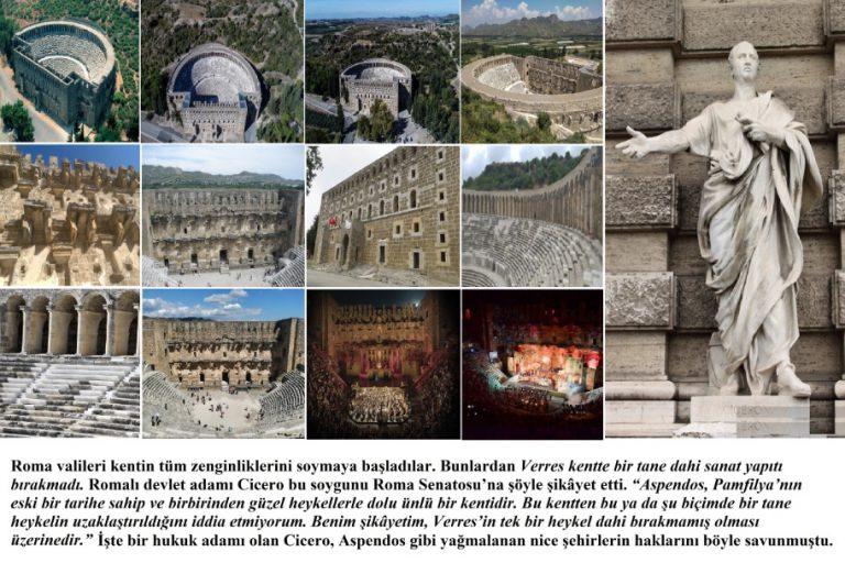 Aspendos Antik Kenti'nin Tüm Zenginliklerini Roma Valileri Soyup Roma'ya Götürdü