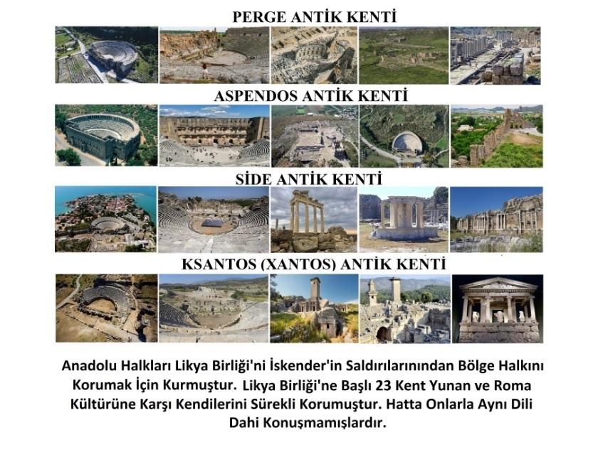 Perge-Aspendos-Side- Ksantos Antik Kentleri Roma ya da Yunan Kentleri Değildir