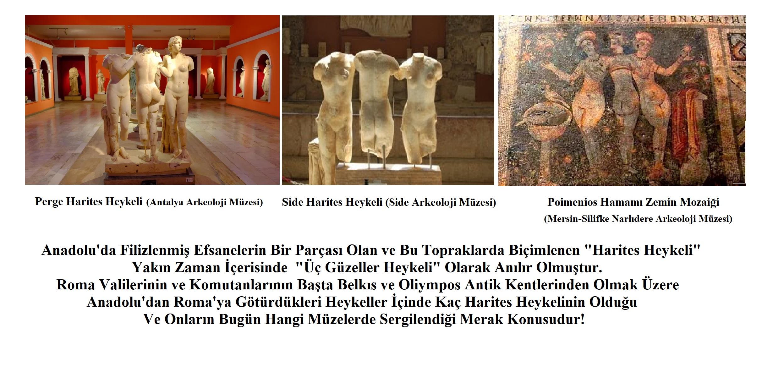 Perge ve Side Antik Kentleri Harites/Karites Heykeli