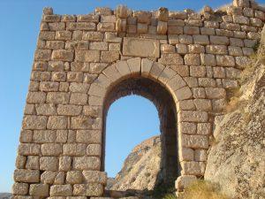 Zengibar Kalesi'nin giriş kapısı.