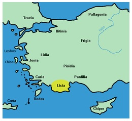 MÖ 15-14. yüzyıl Lukka Ülkesi. Başken Ksanthos-Patara yaygın diller: Luvice, Likce, çok sonradan Yunanca.