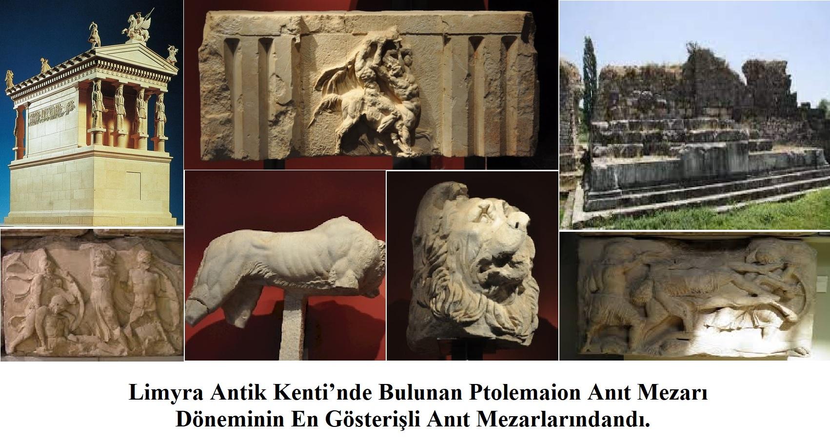 Limyra Antik Kenti'nde Ptolemaion Anıt Mezarı – Likya Birliği – Antalya
